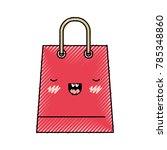 trapezoid kawaii shopping bag... | Shutterstock .eps vector #785348860