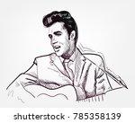 vector sketch illustration...