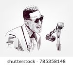 ray charles vector sketch...   Shutterstock .eps vector #785358148