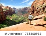 view from canyon overlook trail ... | Shutterstock . vector #785360983