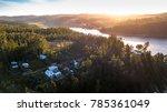 sunset  at bio bio river  chile   Shutterstock . vector #785361049