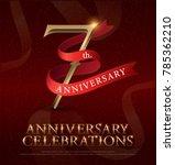 7th years anniversary... | Shutterstock .eps vector #785362210