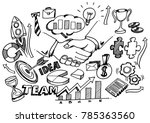 hand drawn strong business... | Shutterstock .eps vector #785363560