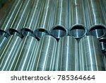 steel pipes texture | Shutterstock . vector #785364664