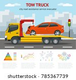 tow truck city road assistance... | Shutterstock .eps vector #785367739
