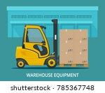 isometric vector forklift truck ... | Shutterstock .eps vector #785367748