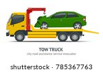 tow truck city road assistance... | Shutterstock .eps vector #785367763