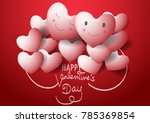 valentine hearts background.... | Shutterstock .eps vector #785369854