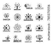 dandelion logo icons set.... | Shutterstock .eps vector #785370556