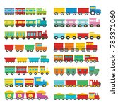 train toy children icons set.... | Shutterstock .eps vector #785371060