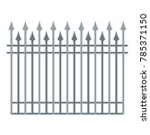 fence with metal rod icon. flat ... | Shutterstock .eps vector #785371150