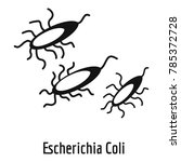 escherichia coli icon. simple... | Shutterstock .eps vector #785372728