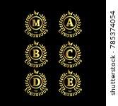 alphabet luxurious gold logo... | Shutterstock .eps vector #785374054