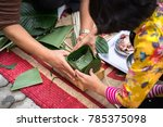 the daughter learning to make... | Shutterstock . vector #785375098