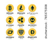 worldwide crypto currency... | Shutterstock .eps vector #785375308