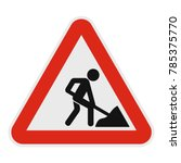 work on the road icon. flat... | Shutterstock .eps vector #785375770