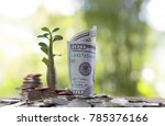 image of pile of coins and bank ... | Shutterstock . vector #785376166