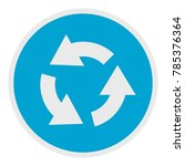 circular arrow icon. flat... | Shutterstock .eps vector #785376364