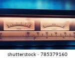 Vintage Amplifier Tuner Scale...