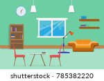 interior living room design... | Shutterstock .eps vector #785382220