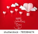 love for valentine's day.vector ... | Shutterstock .eps vector #785384674