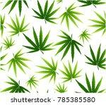 tropical leaves seamless... | Shutterstock .eps vector #785385580