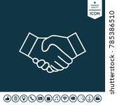 handshake line icon | Shutterstock .eps vector #785386510
