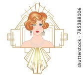flapper 20's style. vintage... | Shutterstock .eps vector #785388106