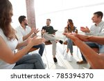 business team applauding its... | Shutterstock . vector #785394370