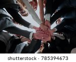 large business team showing... | Shutterstock . vector #785394673
