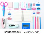 stationary concept on white... | Shutterstock . vector #785402734