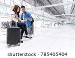 young happy teenage asian... | Shutterstock . vector #785405404