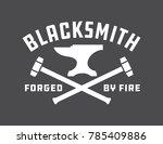 blacksmith vector emblem or... | Shutterstock .eps vector #785409886