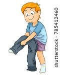 illustration of a kid boy... | Shutterstock .eps vector #785412460