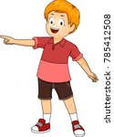 illustration of a kid boy... | Shutterstock .eps vector #785412508