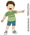 illustration of a kid boy... | Shutterstock .eps vector #785412514