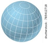 transparent sphere  with... | Shutterstock .eps vector #785412718