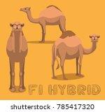 camel f1 hybrid cartoon vector... | Shutterstock .eps vector #785417320