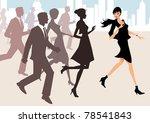 business team running together  ... | Shutterstock . vector #78541843