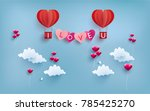 illustration of love and... | Shutterstock .eps vector #785425270