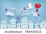 illustrations of love and... | Shutterstock .eps vector #785433523