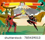 fighting videogame ninja versus ...