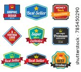 vintage retro vector logo for... | Shutterstock .eps vector #785450290