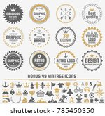 vintage retro vector logo for... | Shutterstock .eps vector #785450350