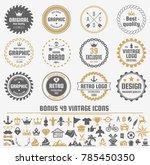 vintage retro vector logo for... | Shutterstock .eps vector #785450350