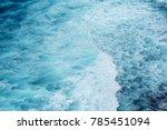 deep blue indian ocean waves  | Shutterstock . vector #785451094