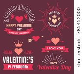 valentine template banner... | Shutterstock .eps vector #785452000
