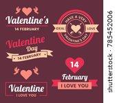 valentine template banner...   Shutterstock .eps vector #785452006