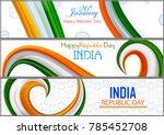 26th january  happy republic... | Shutterstock .eps vector #785452708