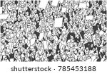 black and white illustration of ... | Shutterstock .eps vector #785453188